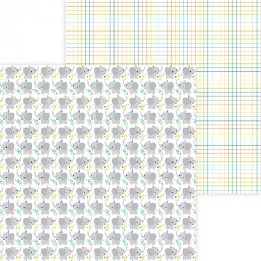 """Cartulina Doble Vista 1 hoja de 12"""" x 12"""" Big Celebration Doodlebug"""