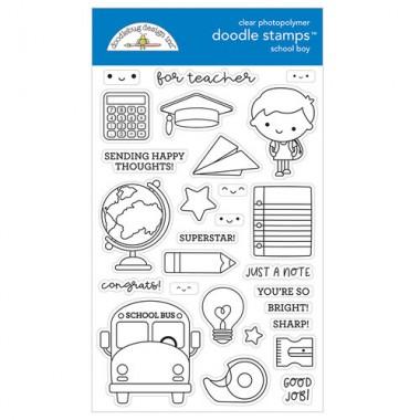 Sellos de Goma Prediseñados School Boy Doodlebug Doodle Stamps
