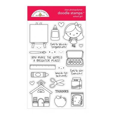 Sellos de Goma Prediseñados School GIrl Doodlebug Doodle Stamps