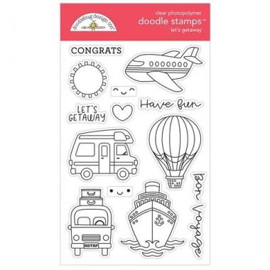 Sellos de Goma Prediseñados Lets Getaway Doodlebug Doodle Stamps