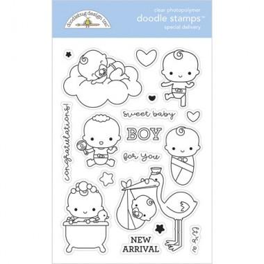 Sellos de Goma Prediseñados Special Delivery Doodlebug Doodle Stamps