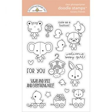 Sellos de Goma Prediseñados Nursery Friends Doodlebug Doodle Stamps