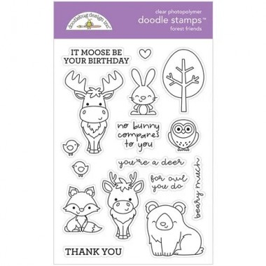 Sellos de Goma Prediseñados Animales Bosque Doodlebug Doodle Stamps