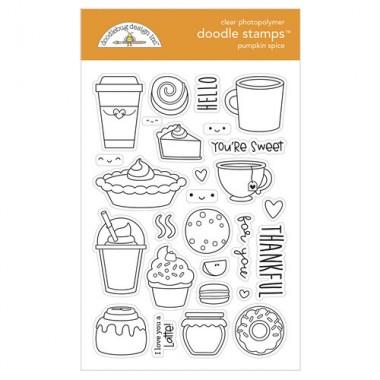 Sellos de Goma Prediseñados Pumpkin Spice Doodlebug Doodle Stamps