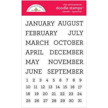 Sellos de Goma Prediseñados Calendario Doodlebug Doodle Stamps