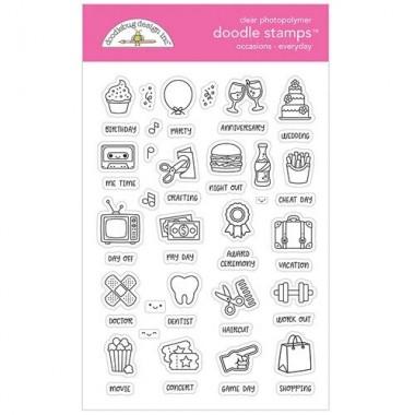 Sellos de Goma Prediseñados Everyday Doodlebug Doodle Stamps