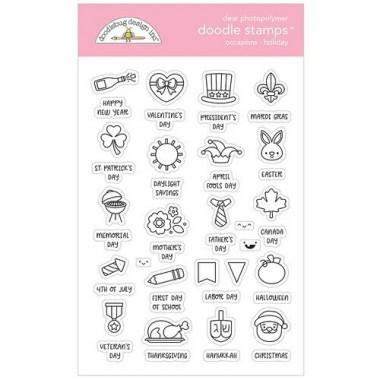 Sellos de Goma Prediseñados Holiday Doodlebug Doodle Stamps