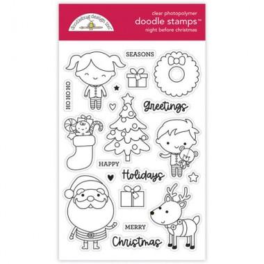 Sellos de Goma Prediseñados Night Before Christmas Doodlebug Doodle Stamps