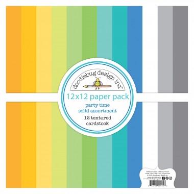 """Paquete de surtido de cartulinas texturizadas Special Delivery 12 piezas 12"""" x 12"""" Doodlebug"""