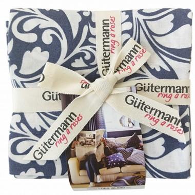 Paquete de 5 cortes de tela Gütermann Long Island tono azul