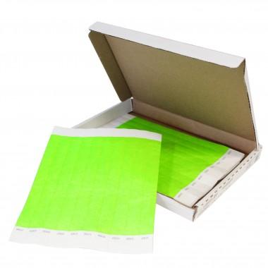 Pulseras Tyvek de un Solo Color Caja con 500 Piezas