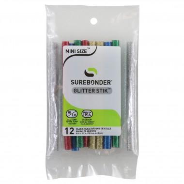 Barras de Silicón Glitter 4 pulgadas (12 piezas) GL-12V Surebonder