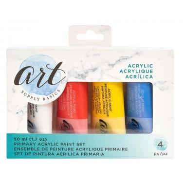 Set de Pintura Acrílica Primaria de 50ml (4 piezas)