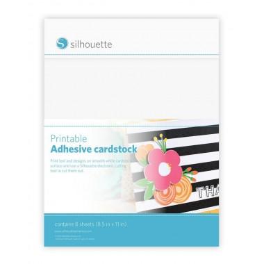 Cartulina Adhesiva Imprimible Silhouette 8 hojas