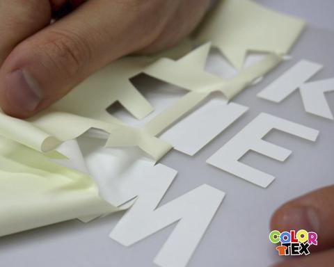 01 aplicaciones del vinil textil de acabado mate Colortex para cortes de detalle
