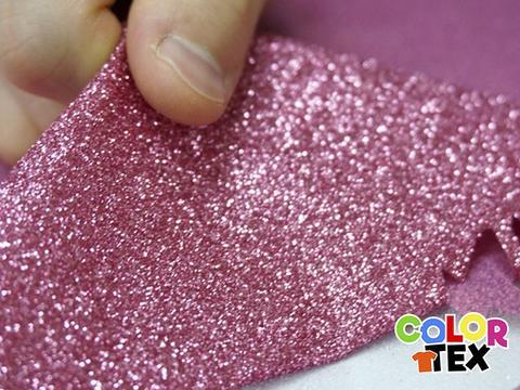 película textil glitter