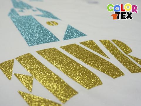 vinil textil con brillos